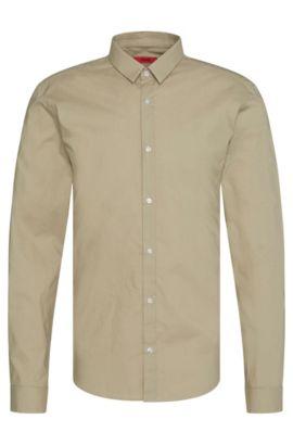 Extra Slim-Fit Hemd aus reiner Baumwolle: 'Ero3', Beige
