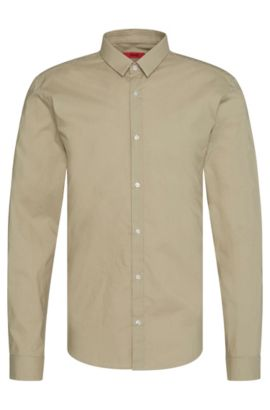 Camicia extra slim fit in puro cotone: 'Ero3', Beige