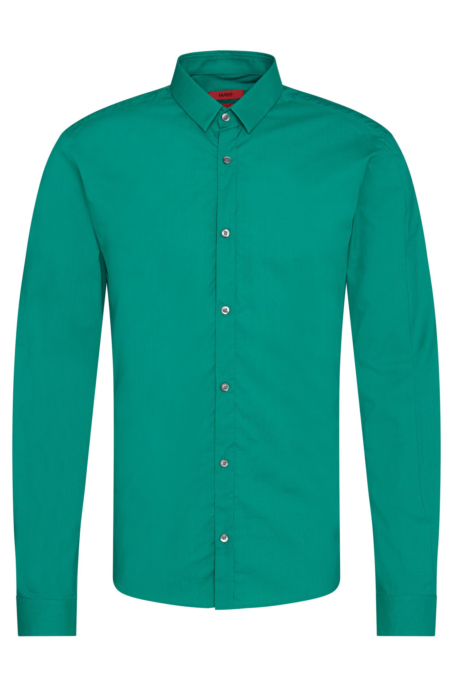 Extra slim-fit shirt in pure cotton: 'Ero3'