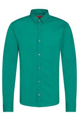 Chemise Extra Slim Fit en pur coton: «Ero3», Vert