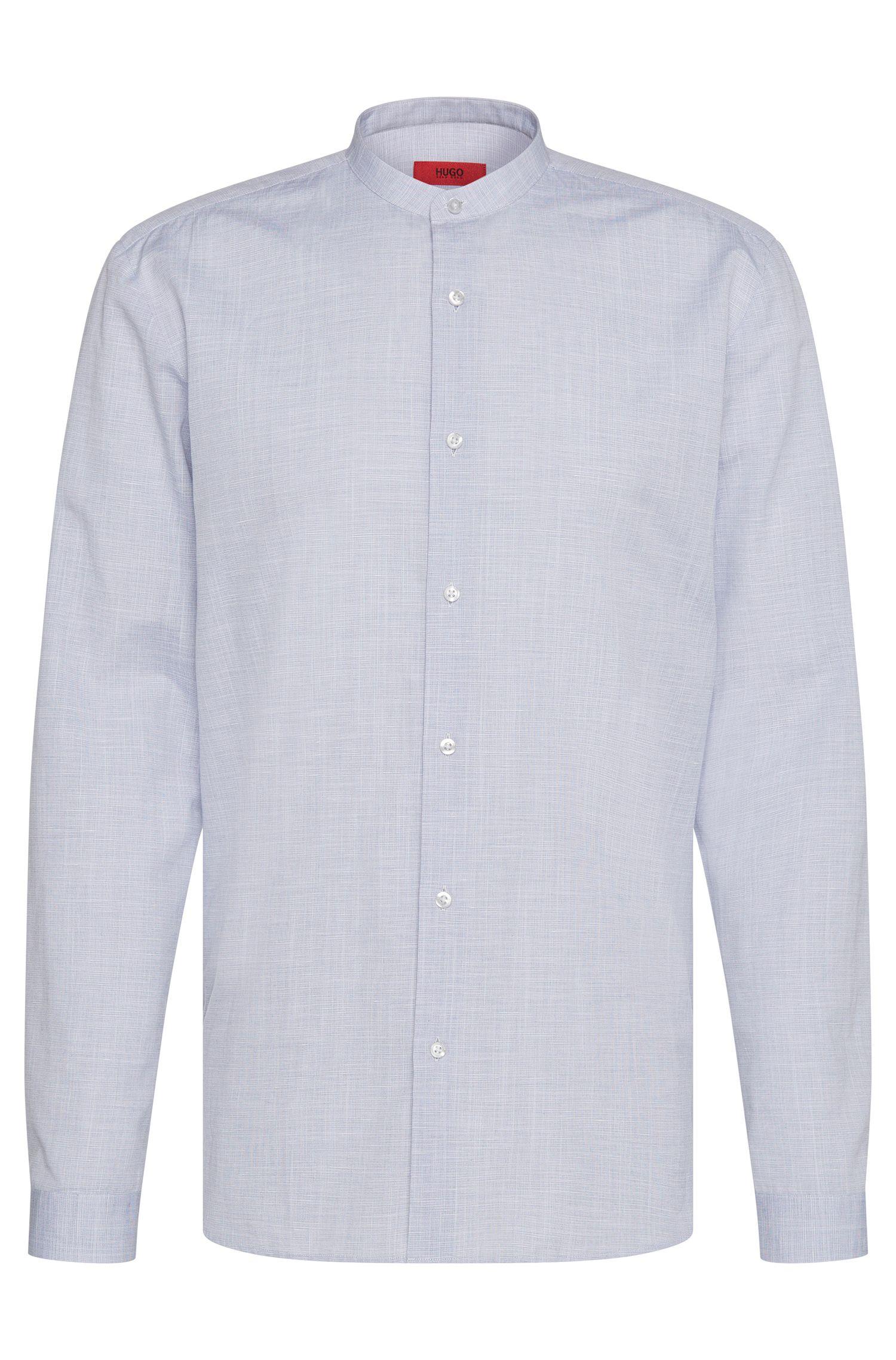 Relaxed-fit overhemd van een katoenmix met linnen: 'Eddison'