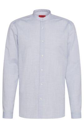 Camicia relaxed fit in misto cotone e lino: 'Eddison', Blu