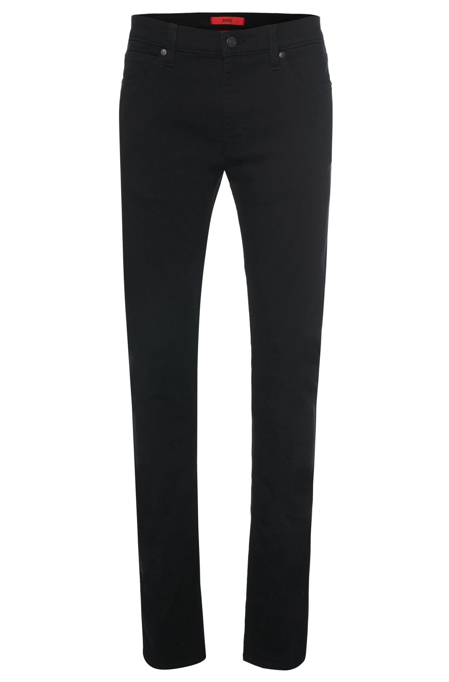 Skinny-fit jeans van een katoenmix met uv-bescherming: 'HUGO 734'