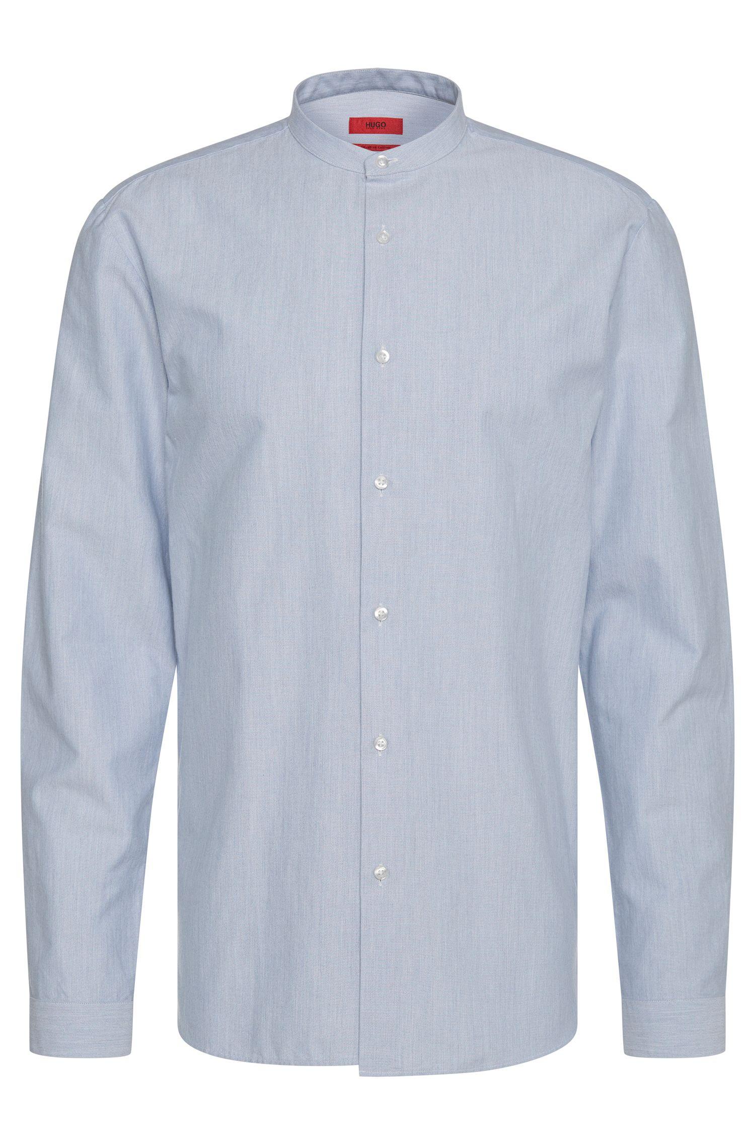 Chemise Regular Fit en coton à col mao court: «Eddison»
