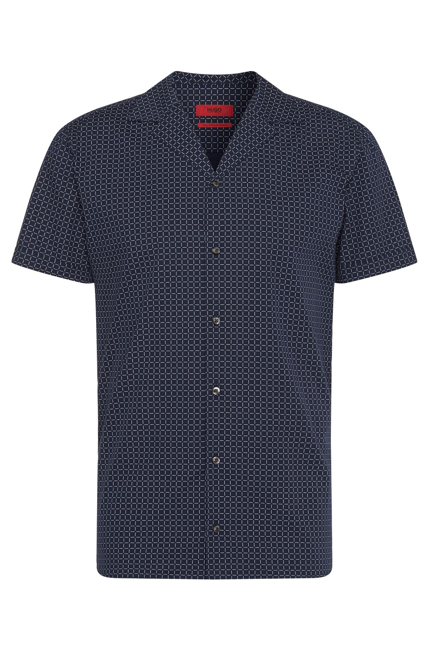 Camisa relaxed fit estampada en algodón puro:  'Endo'