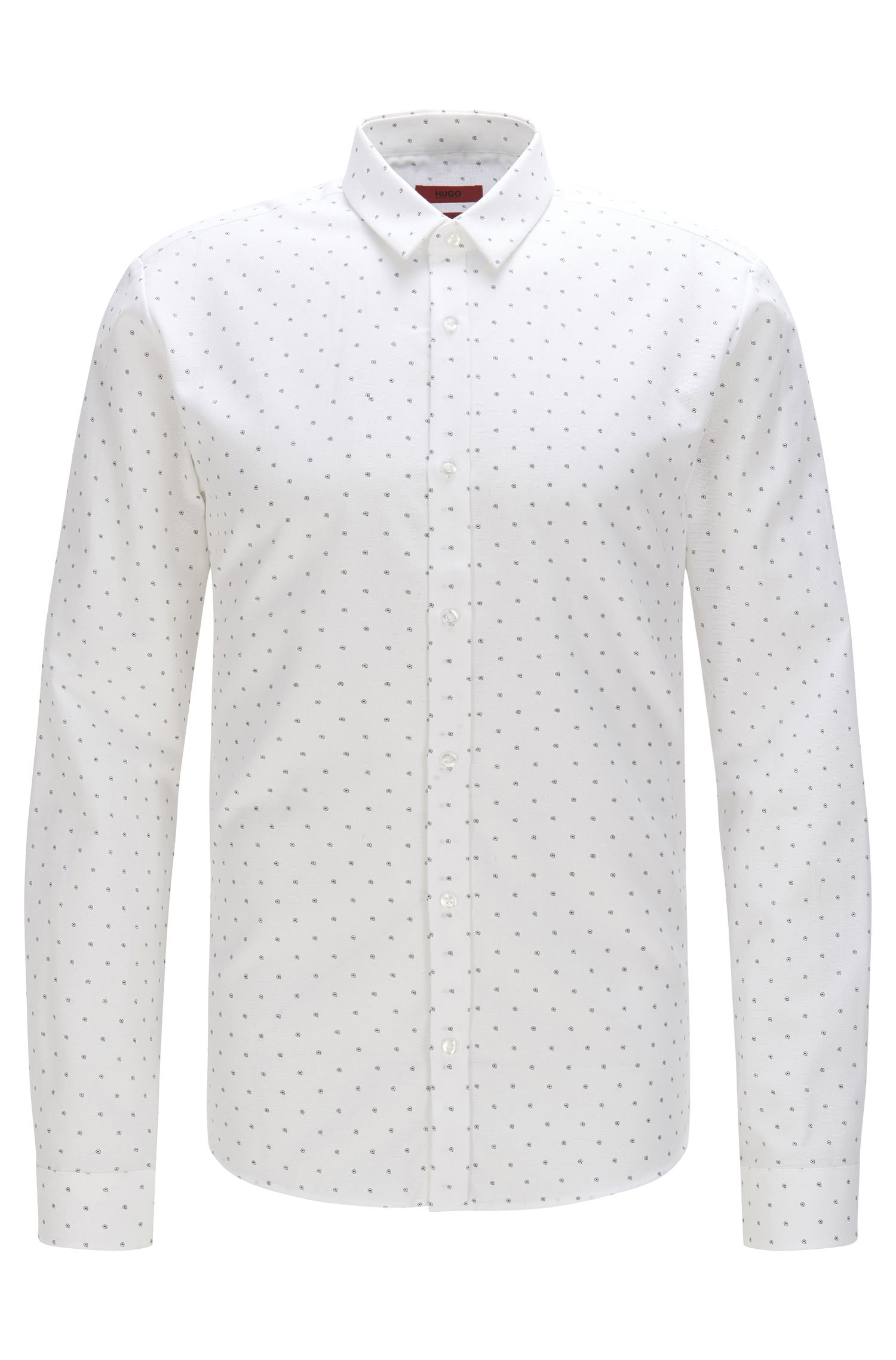 Extra slim-fit shirt in cotton with all-over print: 'Ero3'