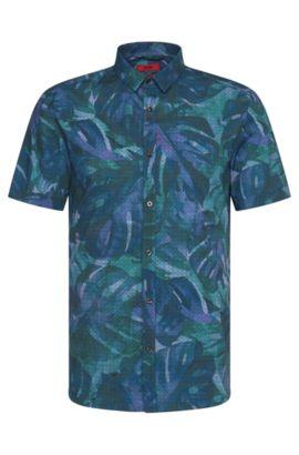 Extra Slim-Fit Kurzarm-Hemd aus Baumwolle: 'Empson', Grün