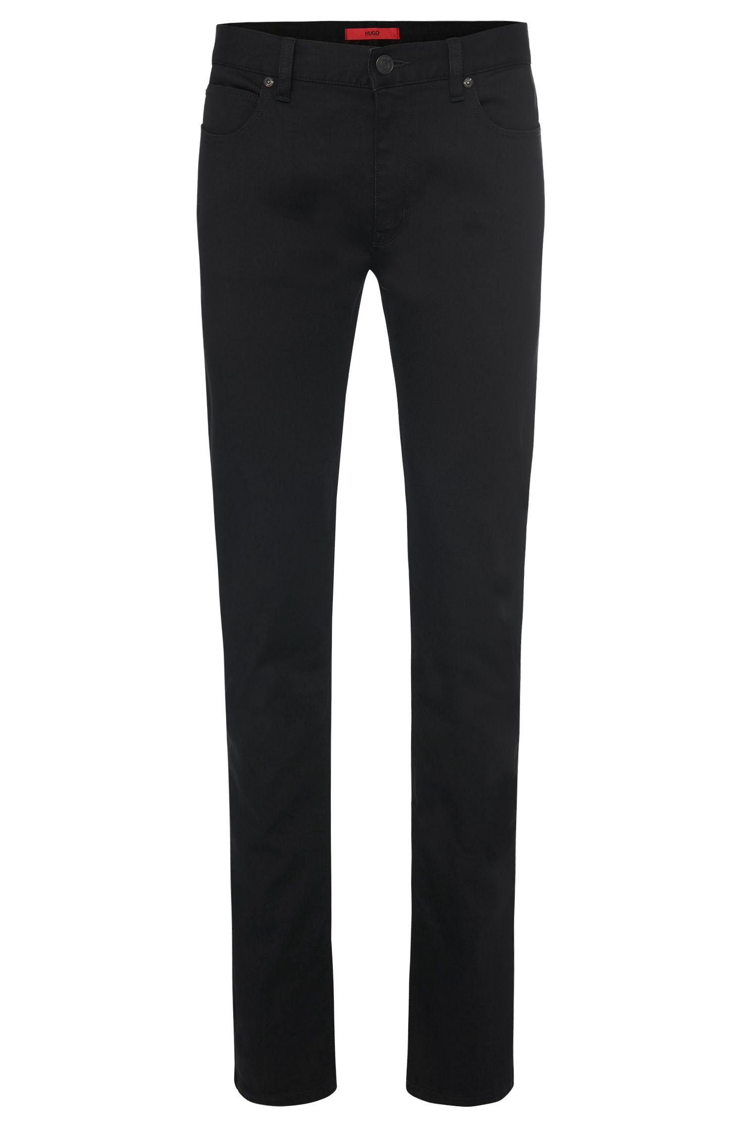 Jeans slim fit leggermente lucidi in misto cotone e viscosa: 'HUGO 708'