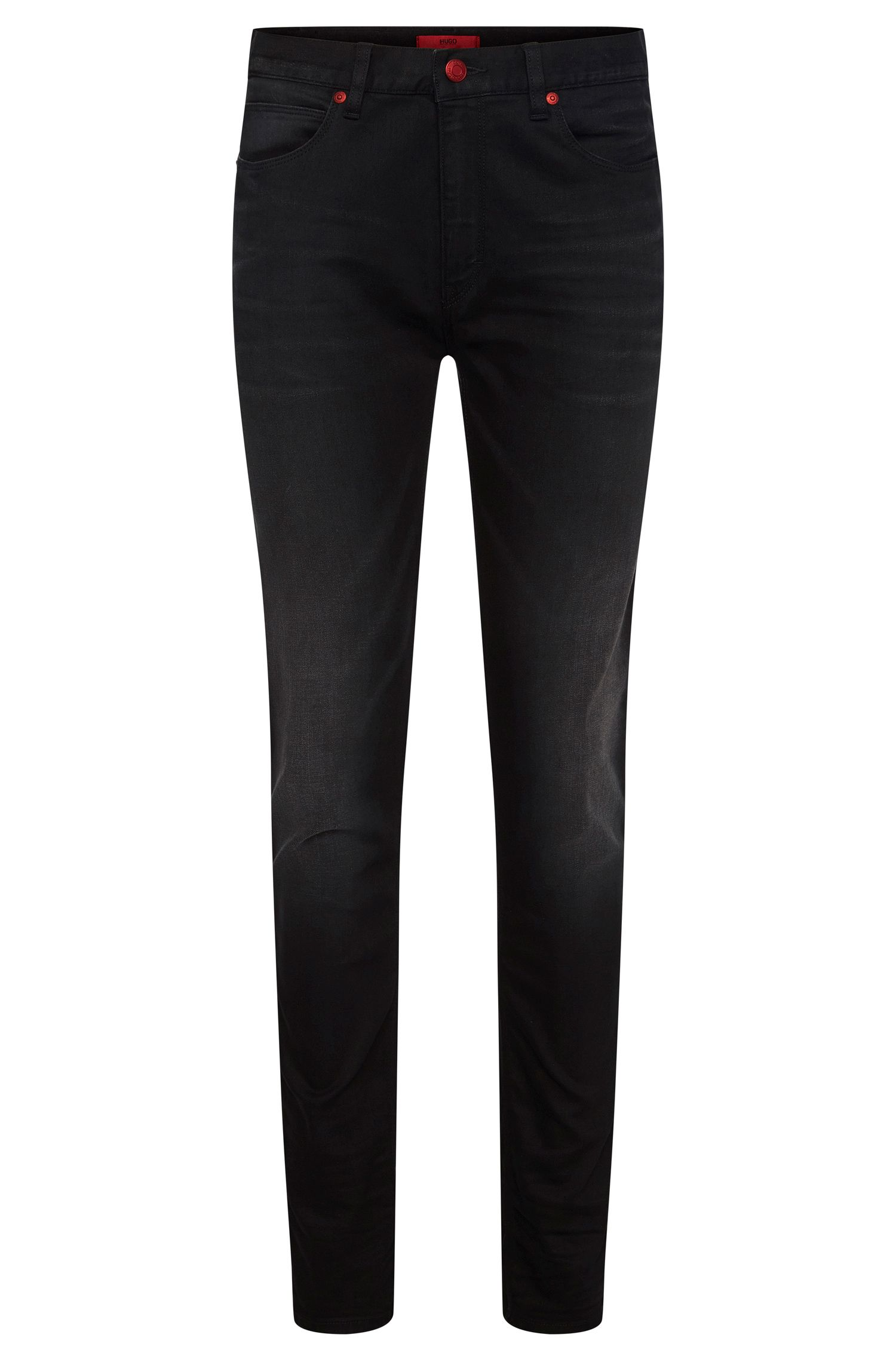 Skinny-fit jeans in stretchy cotton blend with viscose: 'HUGO 734'