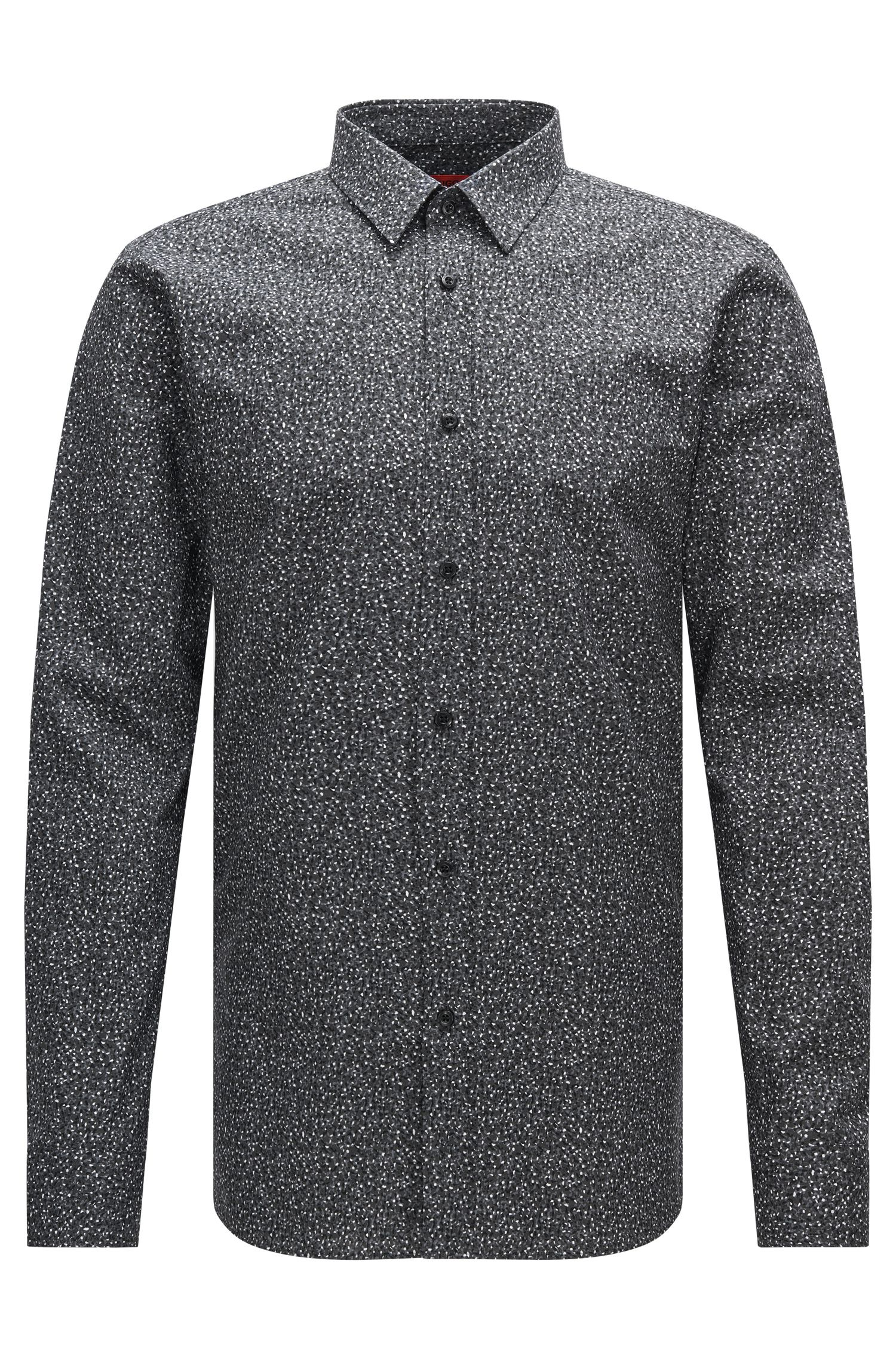 Finely patterned extra-slim fit shirt in cotton: 'Elisha'
