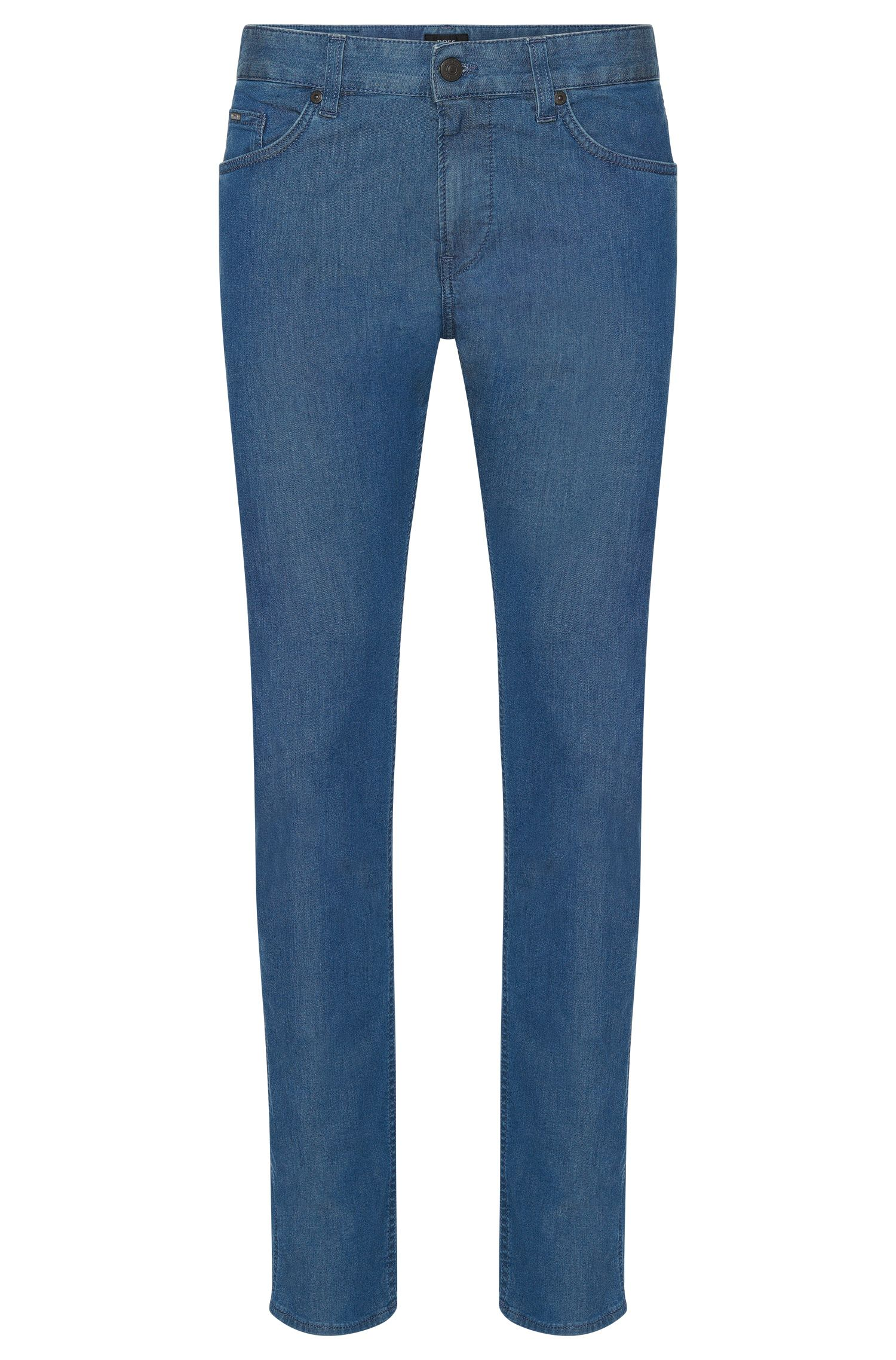 Slim-fit jeans in stretch cotton with a rinsed look: 'Delaware3'
