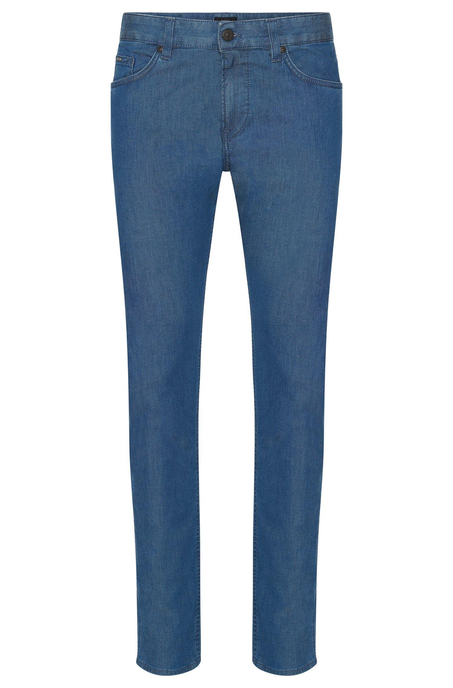 Jeans Slim Fit en coton stretch à la finition rinsed: «Delaware3»