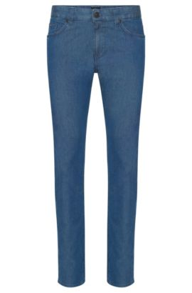 Slim-Fit Jeans aus Stretch-Baumwolle in Rinsed-Optik: 'Delaware3', Blau
