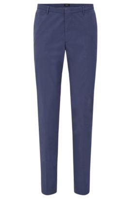 Chino Slim Fit en coton stretch à plis marqués: «Kaito3-W», Bleu vif