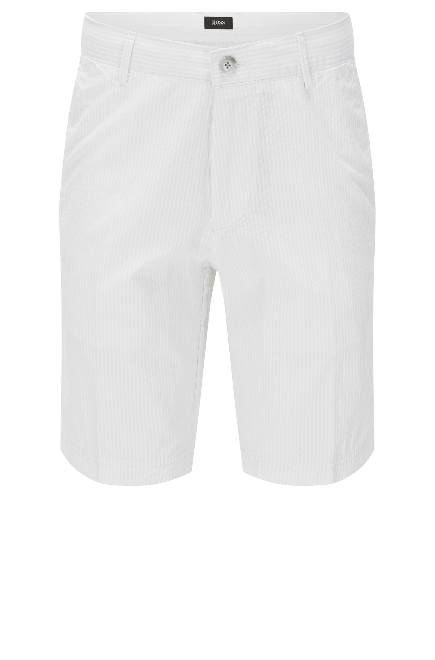 Pantaloncini corti regular fit a righe in cotone: 'Crigan-Short-W'