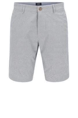 Short Regular Fit en coton stretch : « Crigan-Short-W », Bleu foncé