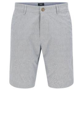 Shorts regular fit en algodón elástico: 'Crigan-Short-W', Azul oscuro