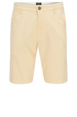 Short Regular Fit en coton stretch: «Crigan-Short-W», Jaune