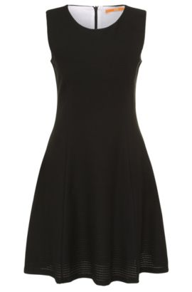 Slim-fit lace dress in a cotton blend with elastane: 'Dacoci', Black