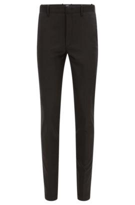 Pantalón slim fit en mezcla de algodón elástico: 'Kaito3-MB2-W' de la colección Mercedes-Benz, Negro