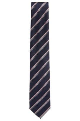 Gemusterte Krawatte aus Seide: 'Tie 7,5 cm', Dunkelblau