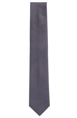 Cravatta in seta a disegni: 'Tie 7,5cm', Blu scuro
