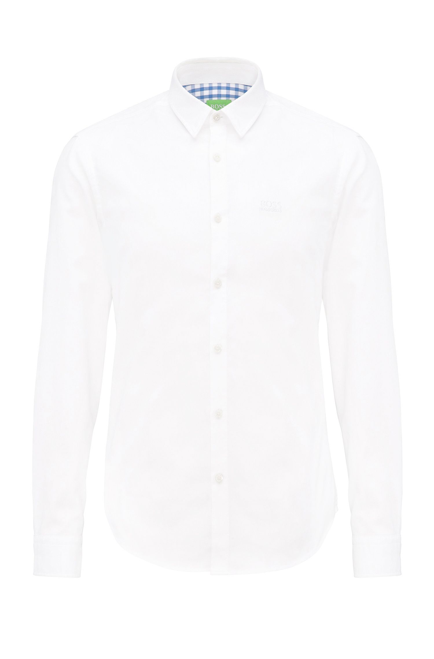 Chemise Regular Fit en coton structuré : « C-Buster »