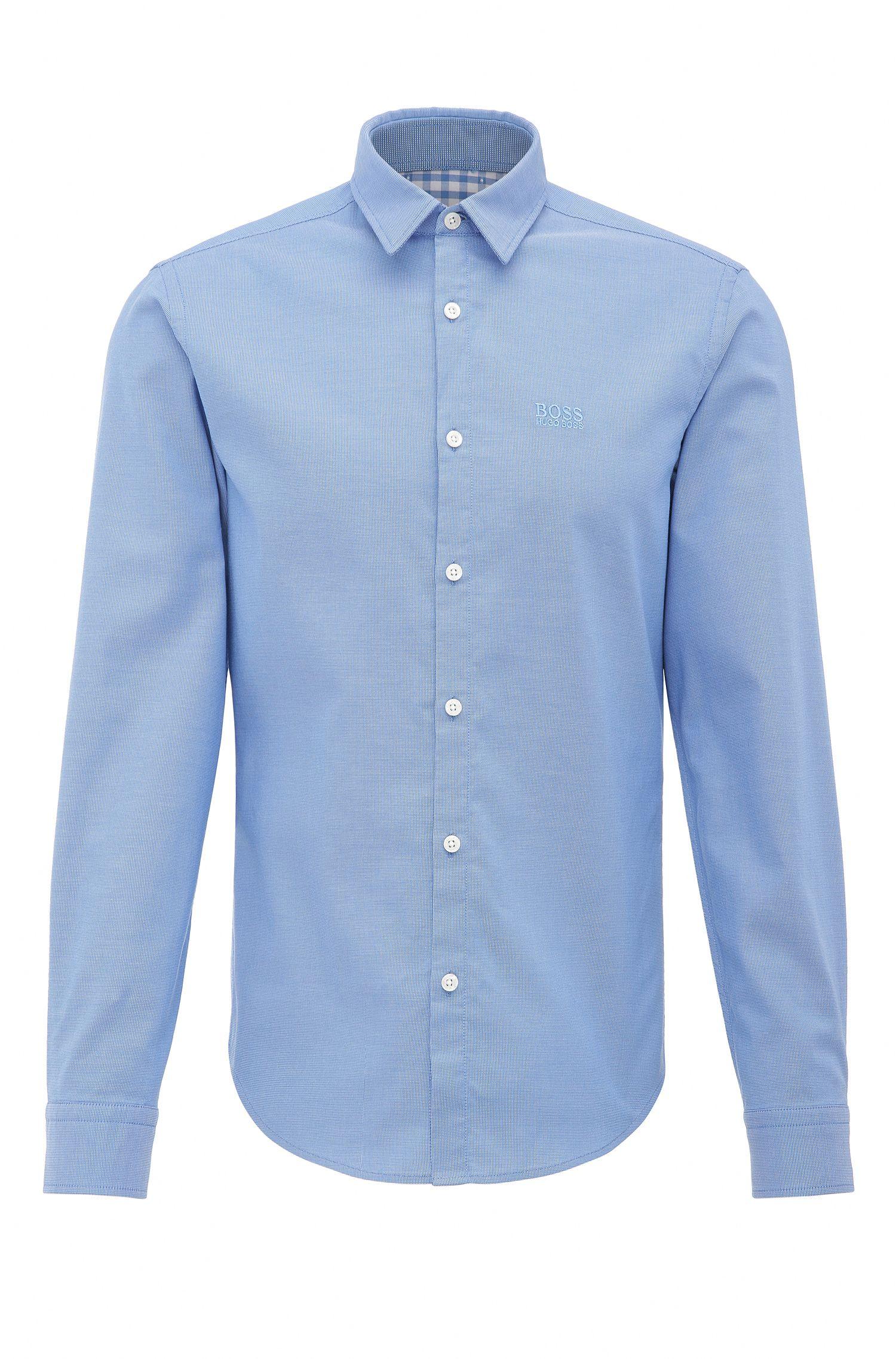Camisa con textura regular fit en algodón: 'C-Buster'