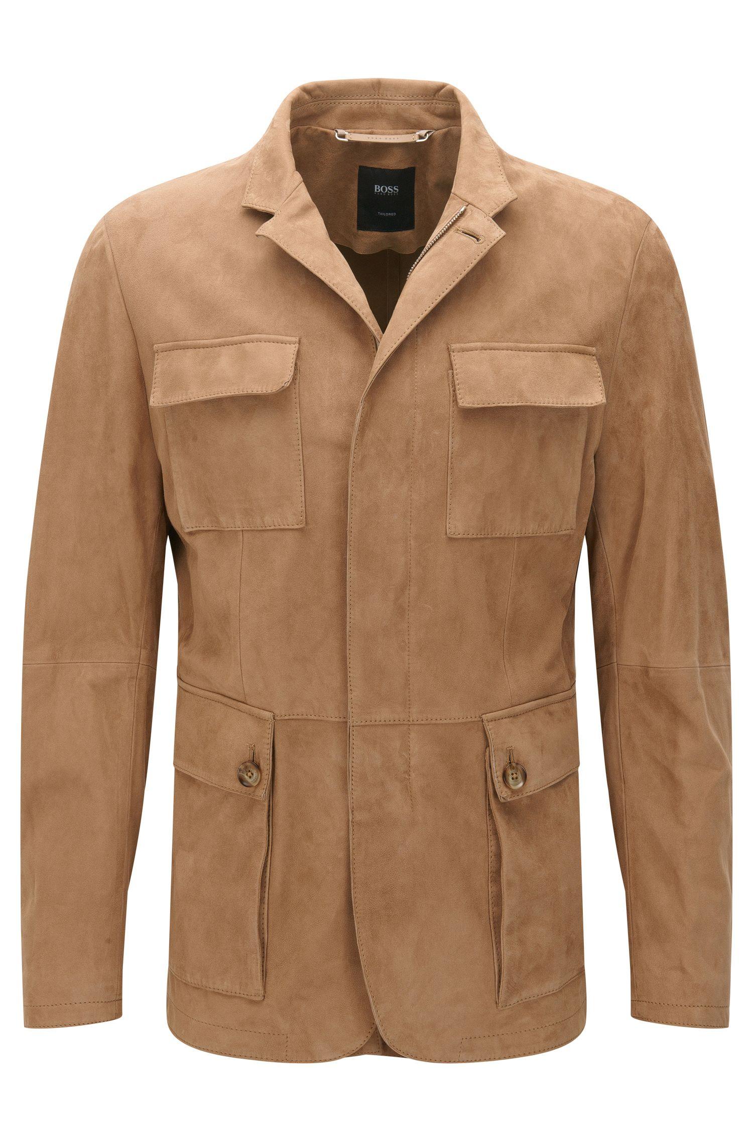 Leren jas met opgezette zakken uit de Tailored-collectie: 'T-Norvis'
