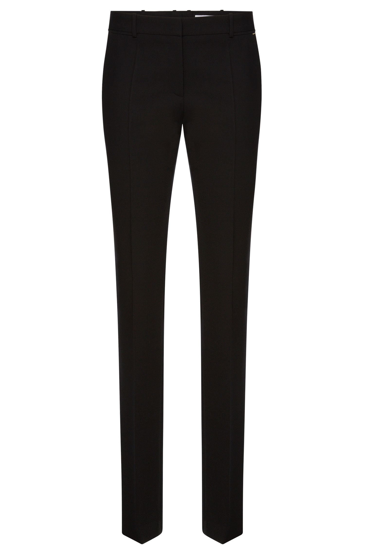 Regular-fit trousers in textured stretch new wool: 'Titana3'