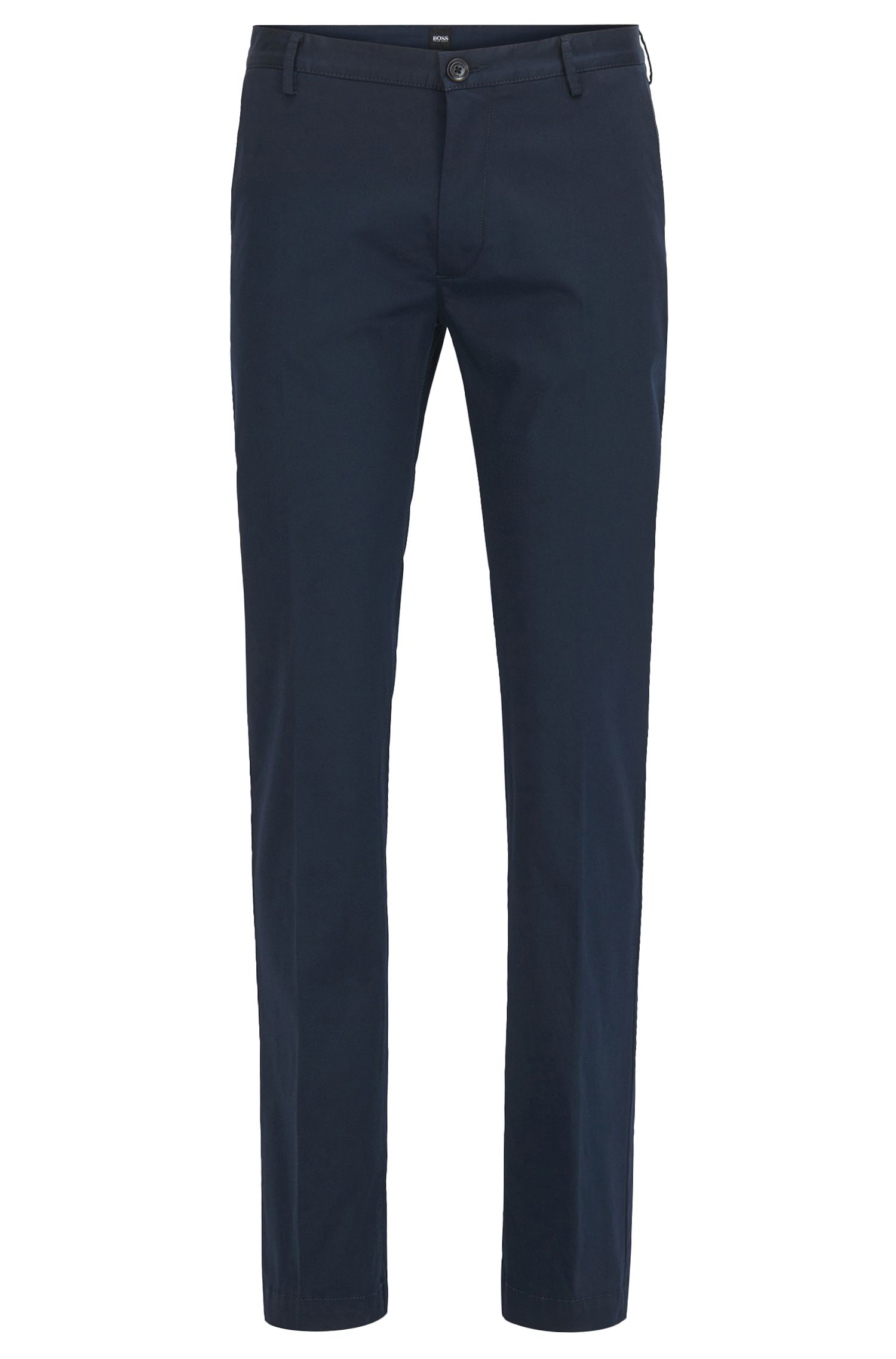Slim-fit chinos in mercerised stretch cotton
