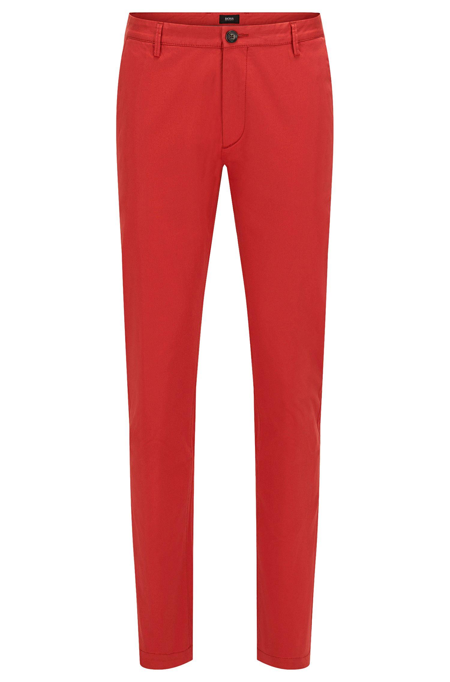 Chino uni Slim Fit en coton stretch: «Rice3-W»