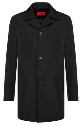 Abrigo corto regular fit impermeable: 'C-Dais7', Negro