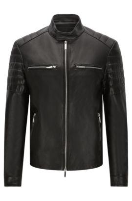 Leren jas in bikerstijl: 'Norwyn' uit de Mercedes-Benz-collectie, Zwart