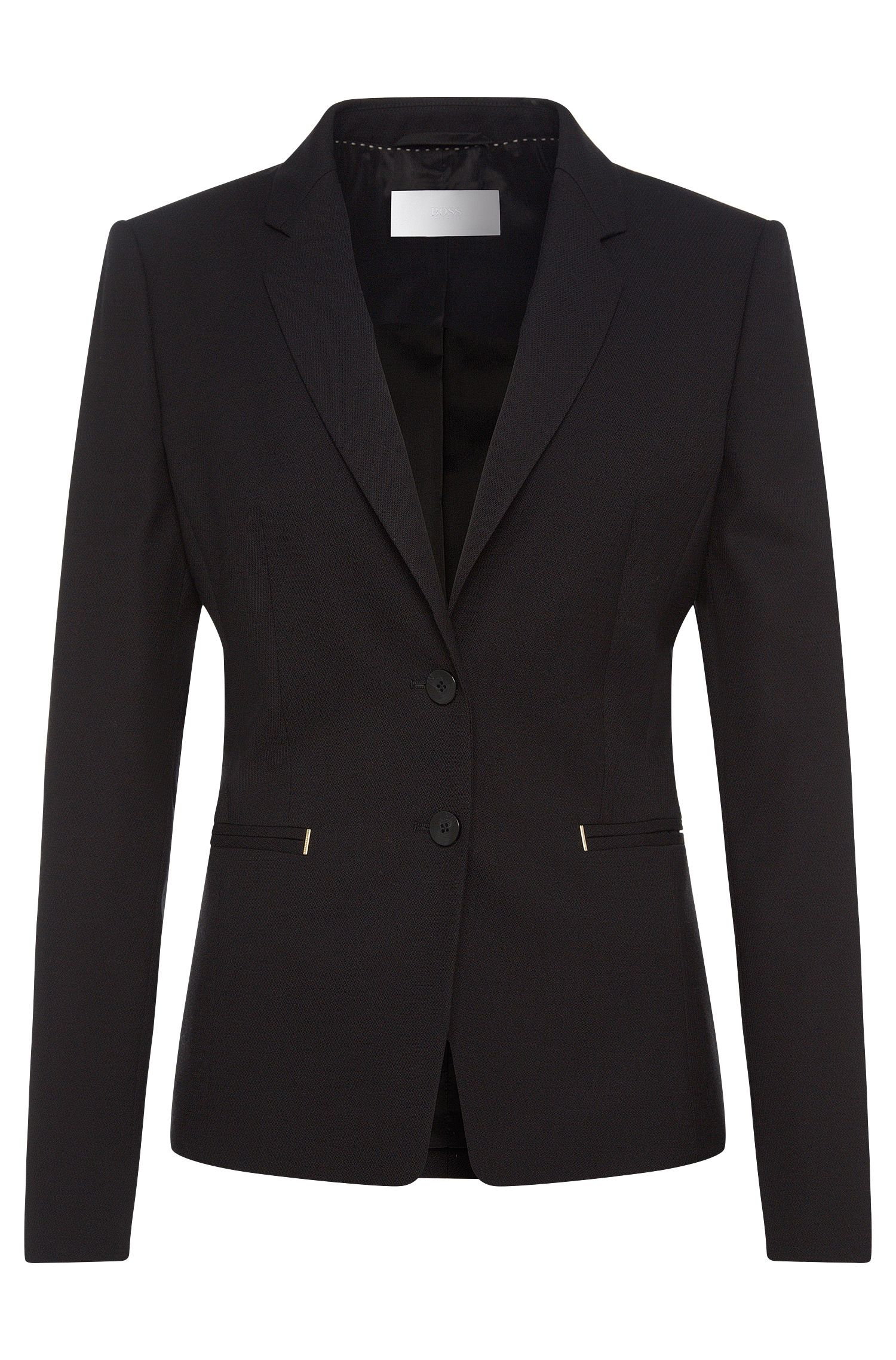 Textured blazer in stretch new wool: 'Jimondi'