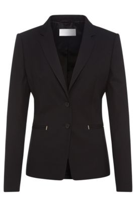 Textured blazer in stretch new wool: 'Jimondi', Patterned
