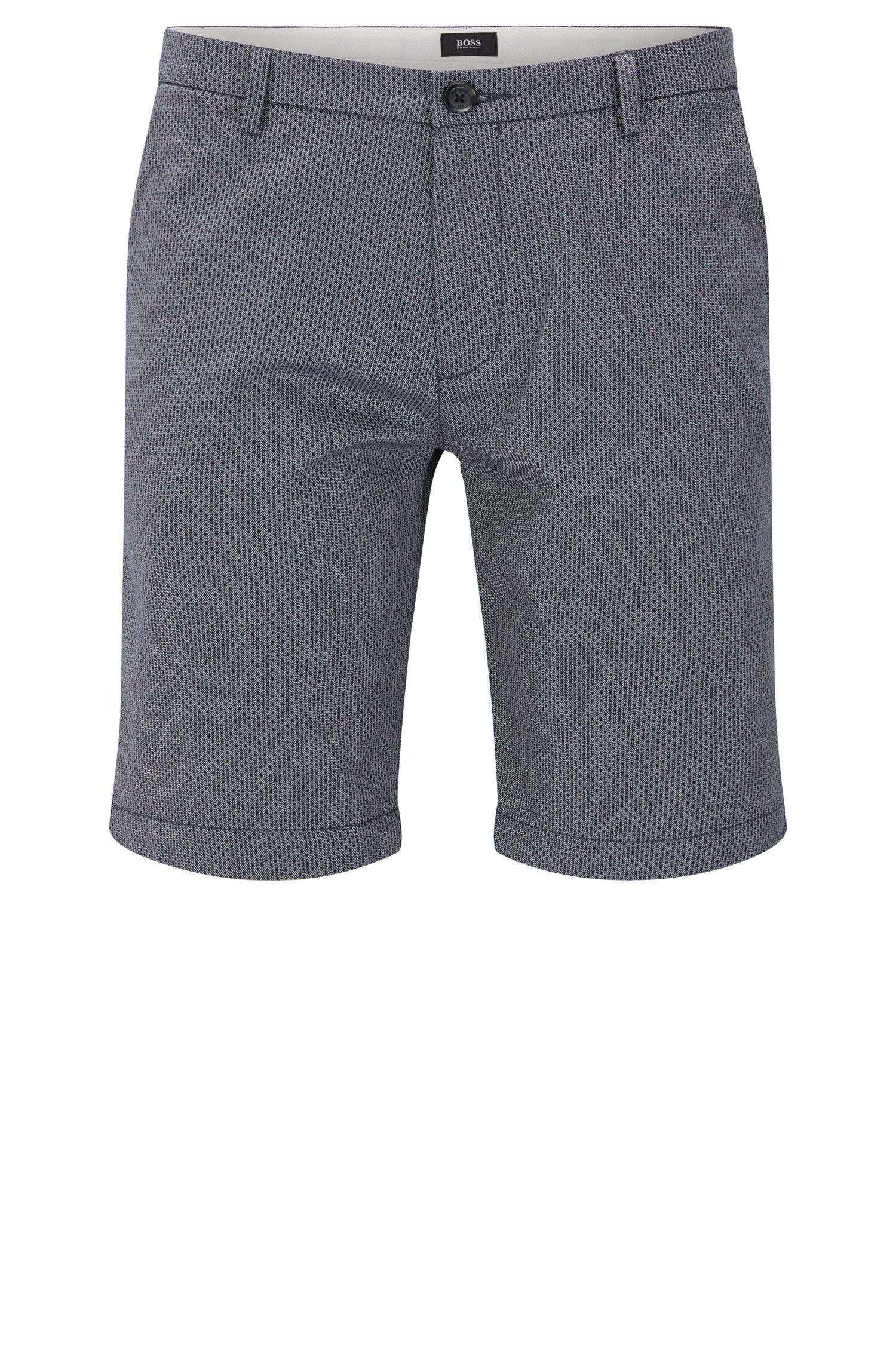 Short Slim Fit en coton extensible à motif: «RiceShort3-D»