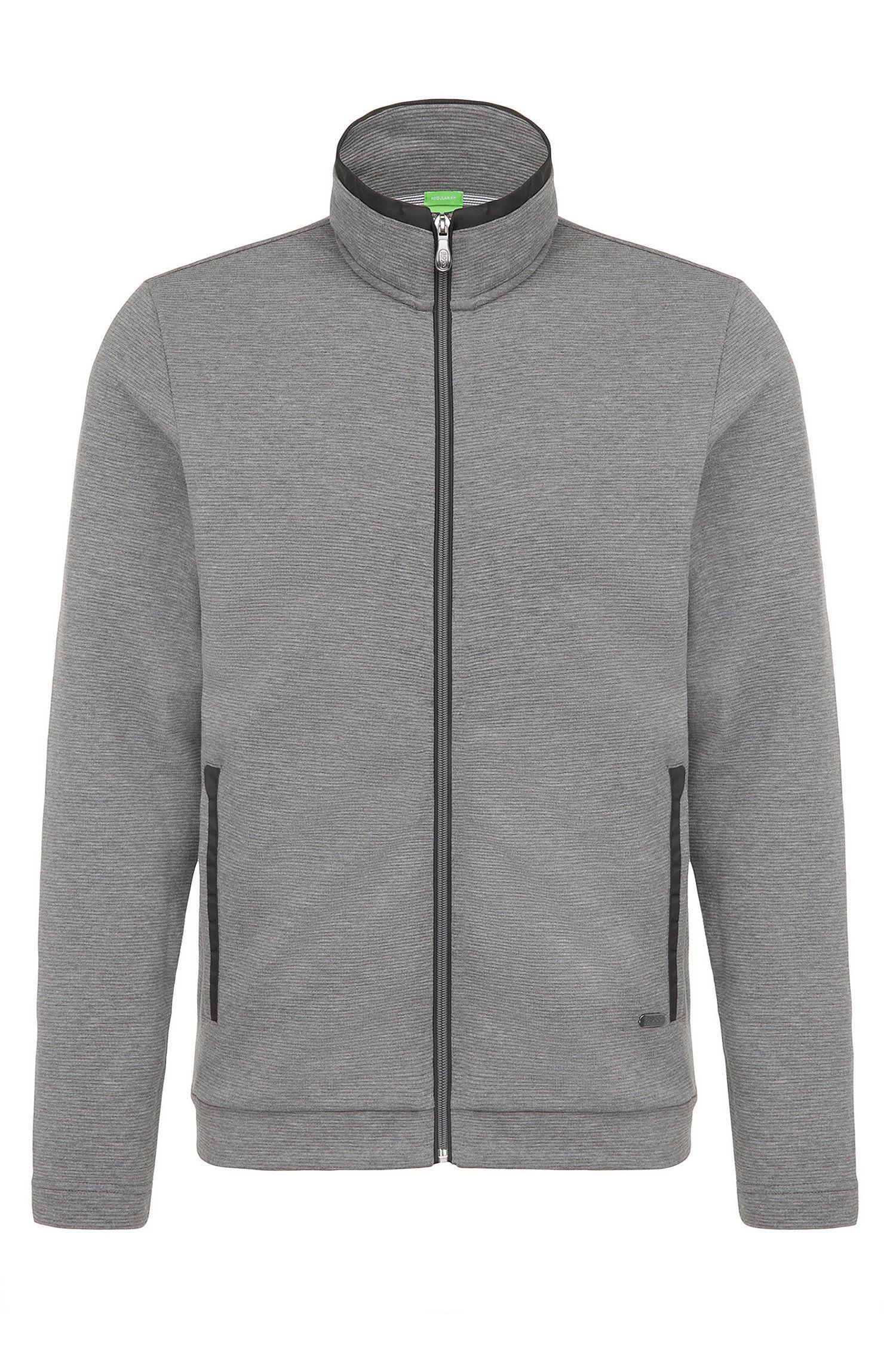 Regular-fit sweatshirt jacket in cotton: 'C-Cannobio'