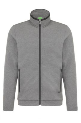 Regular-fit sweatshirt jacket in cotton: 'C-Cannobio', Grey