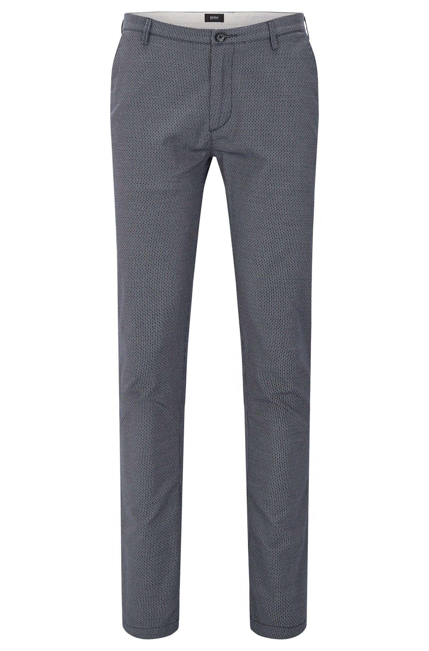 Chino Slim Fit à motif en coton stretch: «Rice3-D»