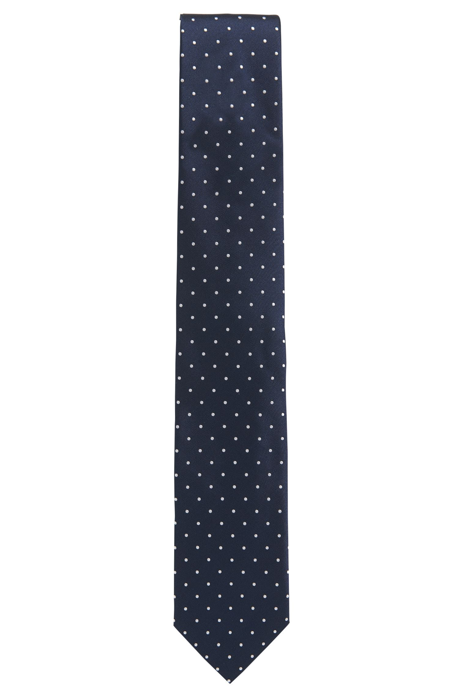 Silk tie with micro dots