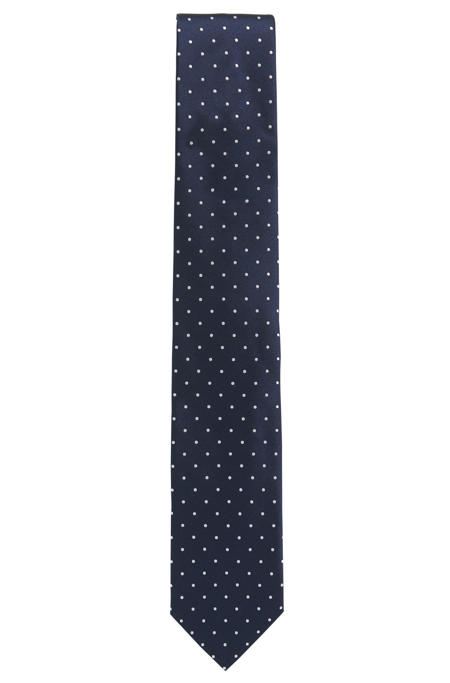 Cravate en soie à micro pois
