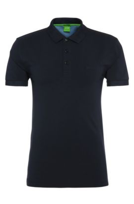 Polo Regular Fit en coton extensible: «Paddy2», Bleu foncé