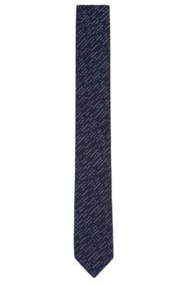 Cravatta a disegni in misto cotone con seta: 'Tie 6cm', Blu scuro