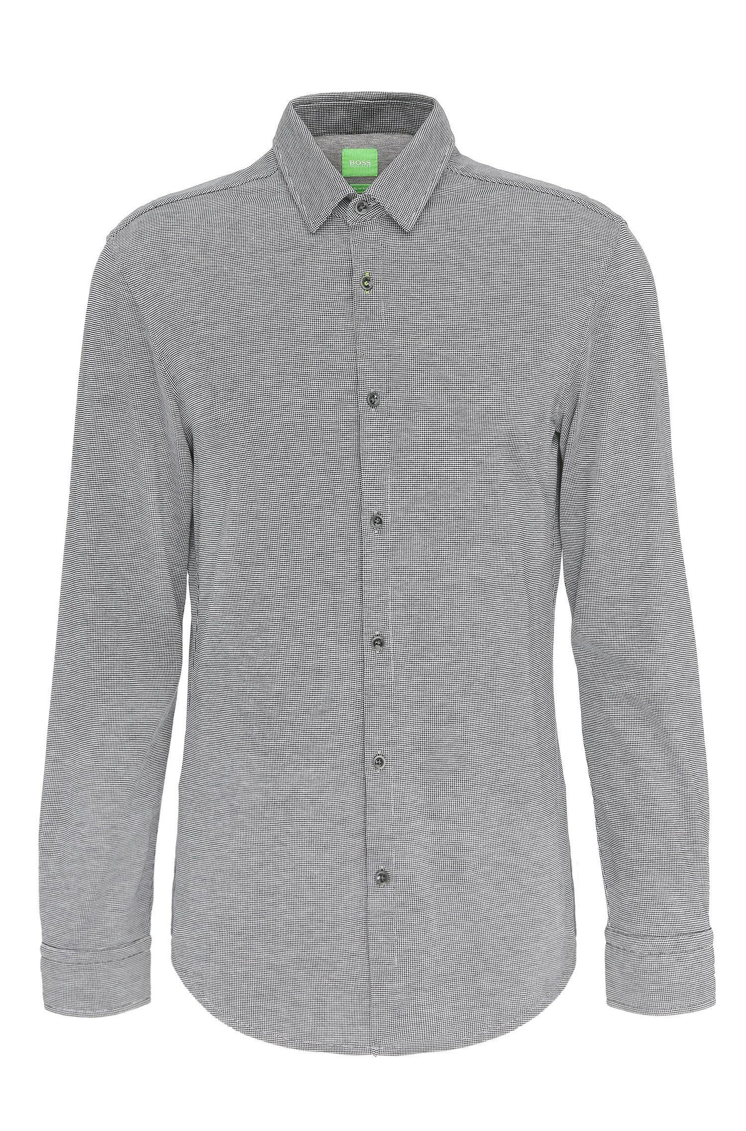 Gemustertes Slim-Fit Hemd aus Baumwolle: ´Bertillo`