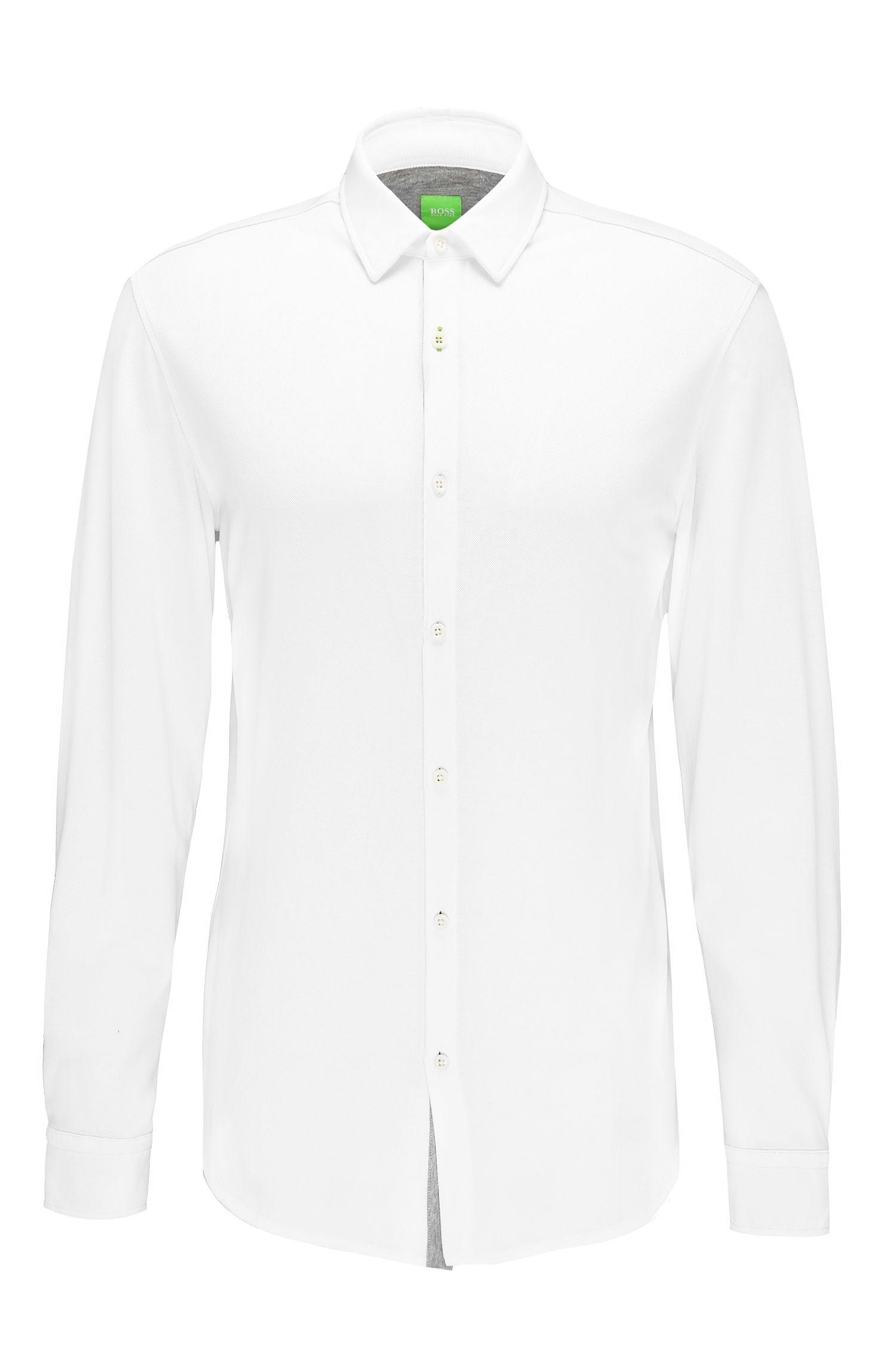 Camicia slim fit in cotone a disegni: 'Bertillo'
