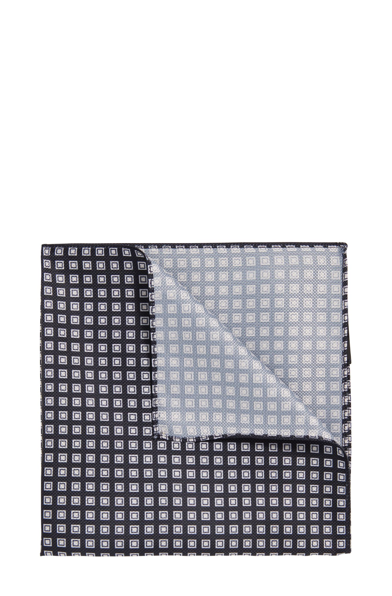 Pochet met all-over dessin: 'Pocket sq. 33x33 cm'