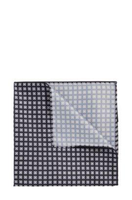 Pañuelo de bolsillo con estampado integral: 'Pocket sq. 33x33 cm', Verde oscuro