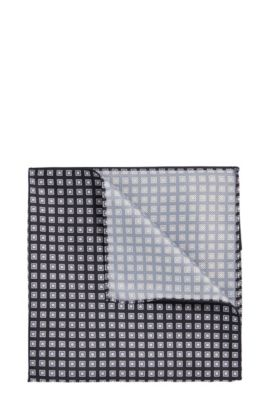 Pocket square with all-over pattern: 'Pocket sq. 33x33 cm', Dark Green