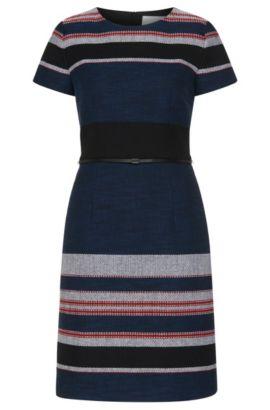 Gestreiftes Kleid aus strukturiertem Baumwoll-Mix: 'Detina', Gemustert
